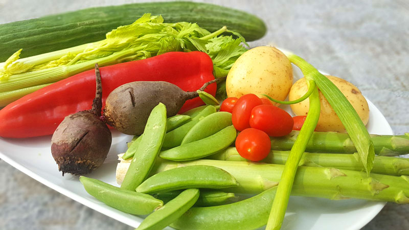 Ingredients for a nutritious summer salad