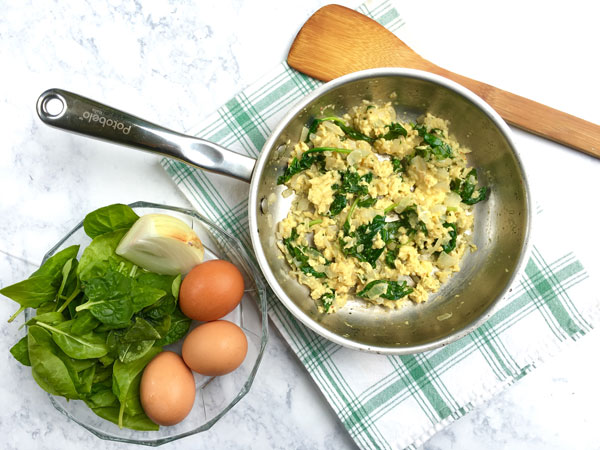 Egg and Spinach Saute
