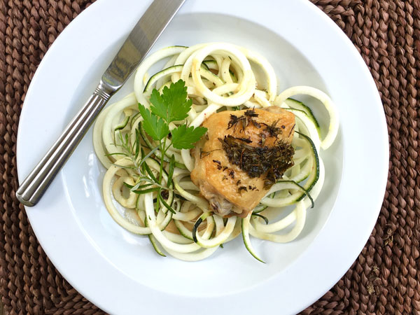 Lemon Chicken with Zoodles