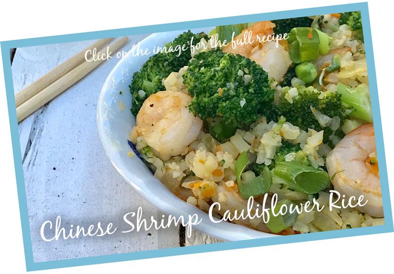 a recipe for chinese shrimp cauliflower rice