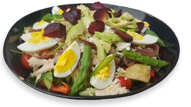 A healthy balanced salad is a delicious and nutritious way of keeping off hunger cravings until your next meal