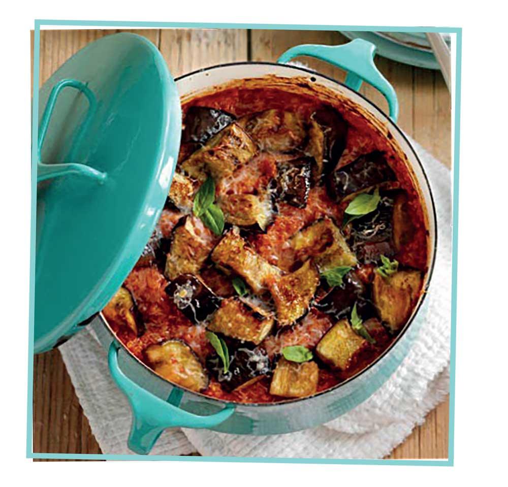 healthy vegetarian aubergine bake