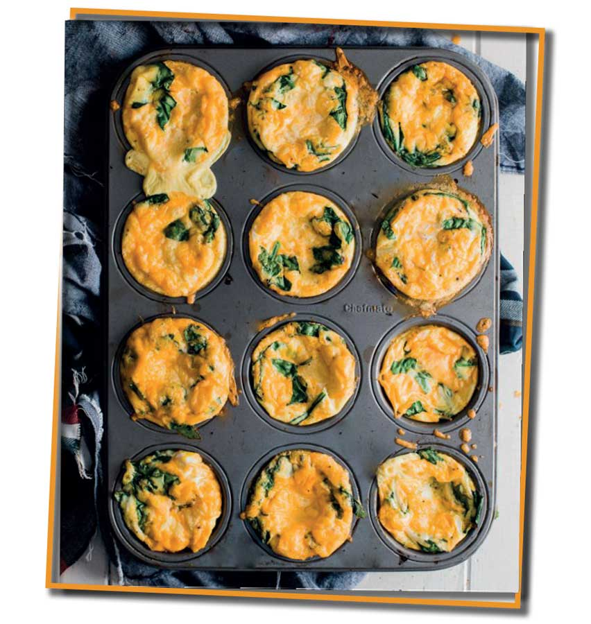 nutritious spinach and sweet potato muffin fritatas