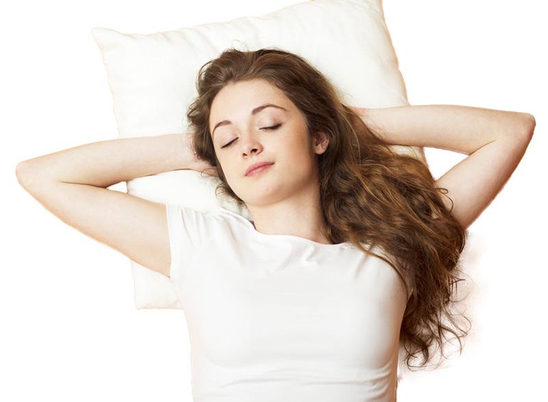 a girl getting a healthy sleep