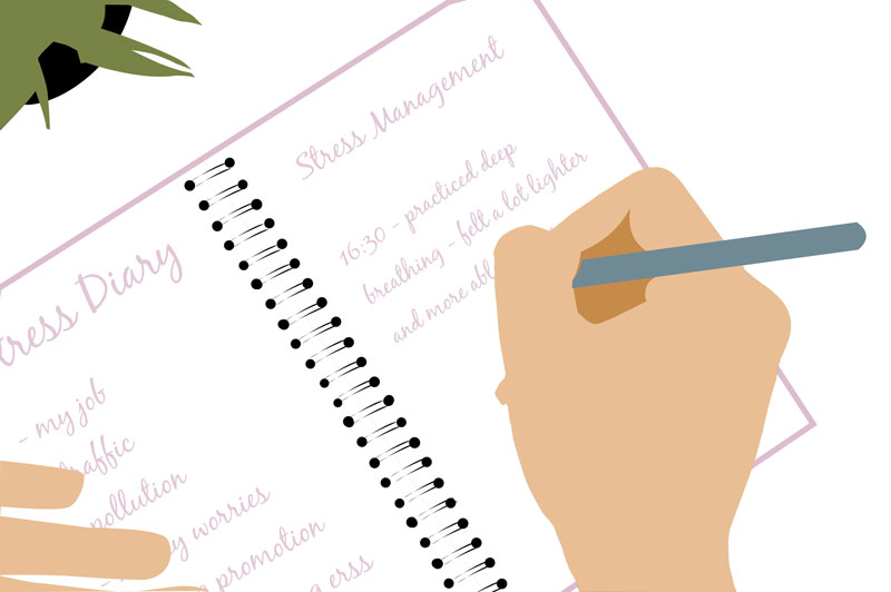 writing a stress diary can be helpful