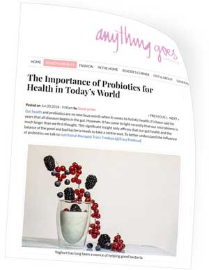 the importance of probiotics..