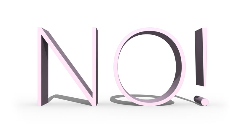 learn to say no to help reduce stress