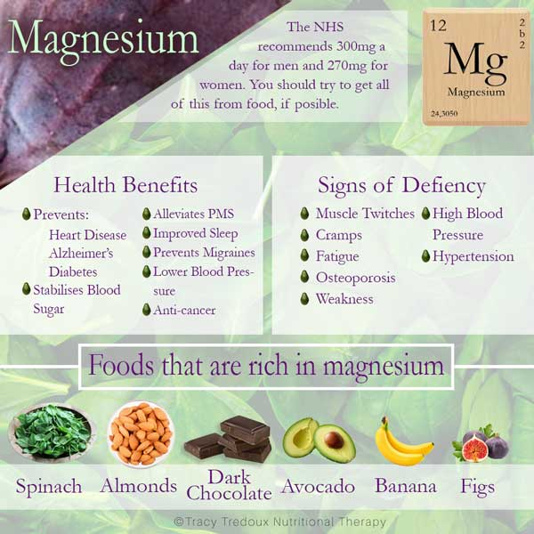 A useful article on the benefits and importance of magnesium by London nutritional therapist Tracy Tredoux..