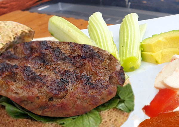 A healthy beefburger recipe by london nutritional therapist tracy tredoux
