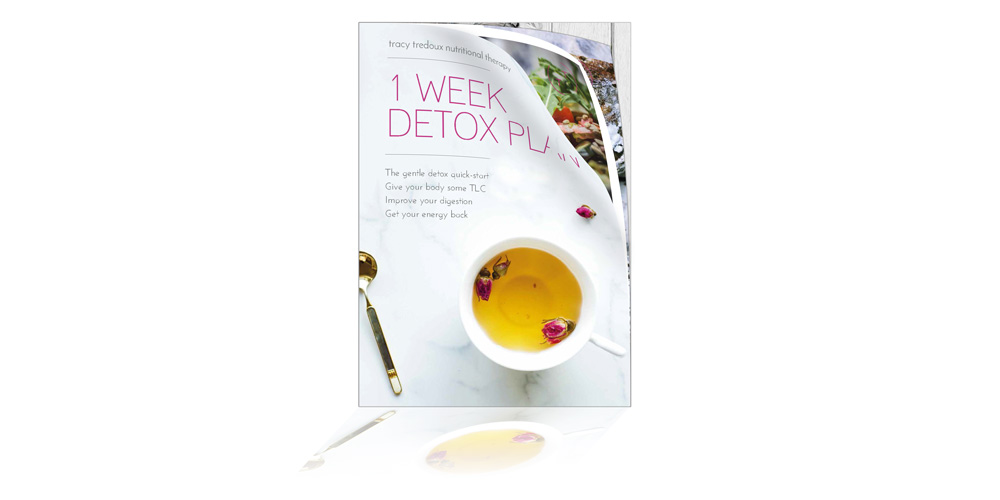 1 Week Detox - Have you heard about detoxing but aren't sure exactly what it is, or whether it might be for you? Many of my clients tell me that they would like to clear their body of toxins but aren't really sure where to start. With this in mind, I have prepared this free, colourful guide with everything you need to know about detoxing and a 1-week programme that will help you on your way to a healthier happier you..