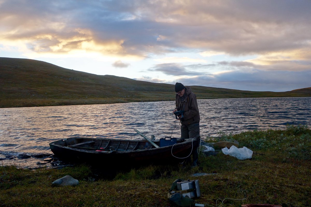 Jan Karlson monitoring Arctic lakes