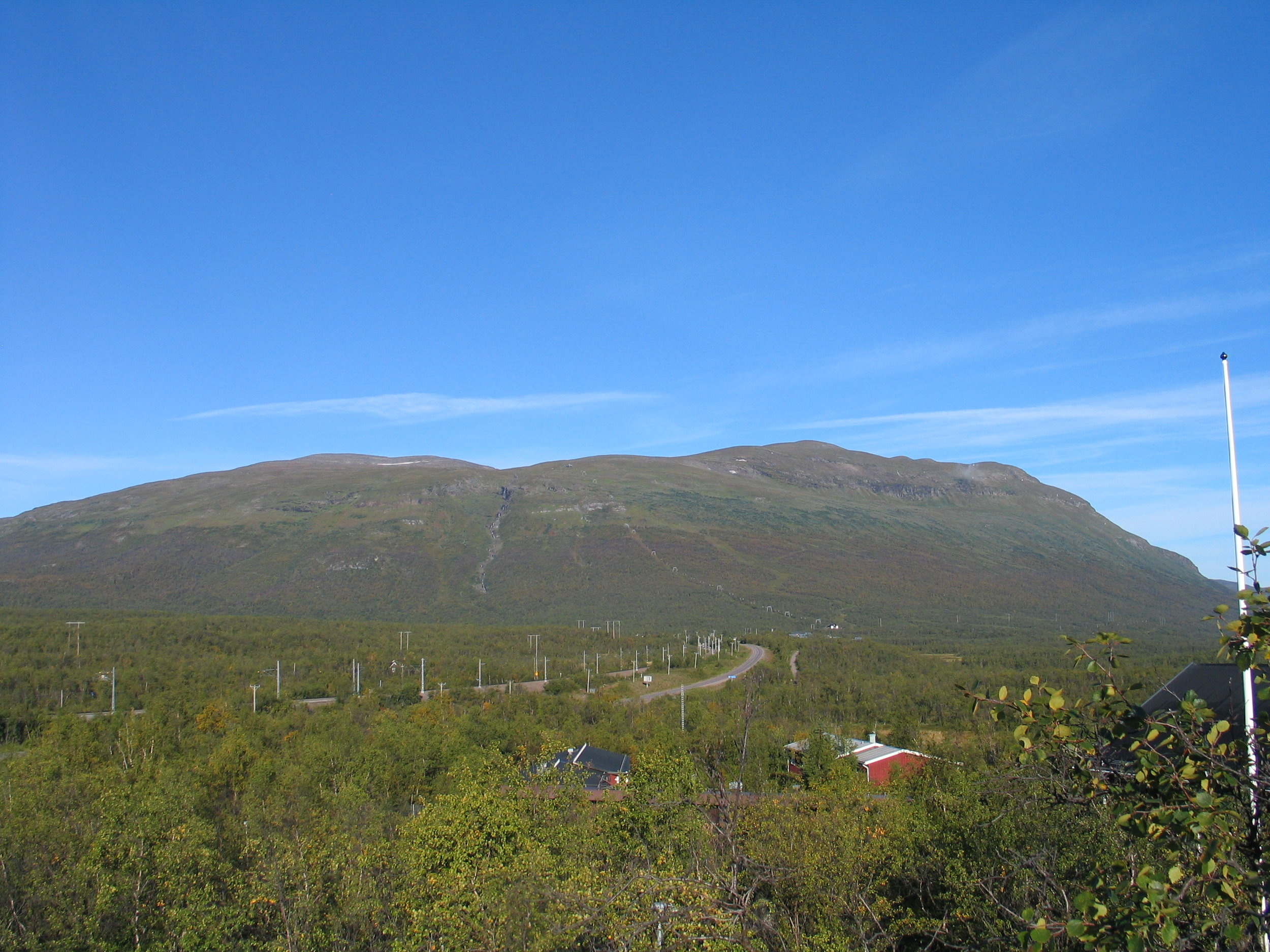 Nuolja, Abisko National Park as seen from the Abisko Scientific Research Station