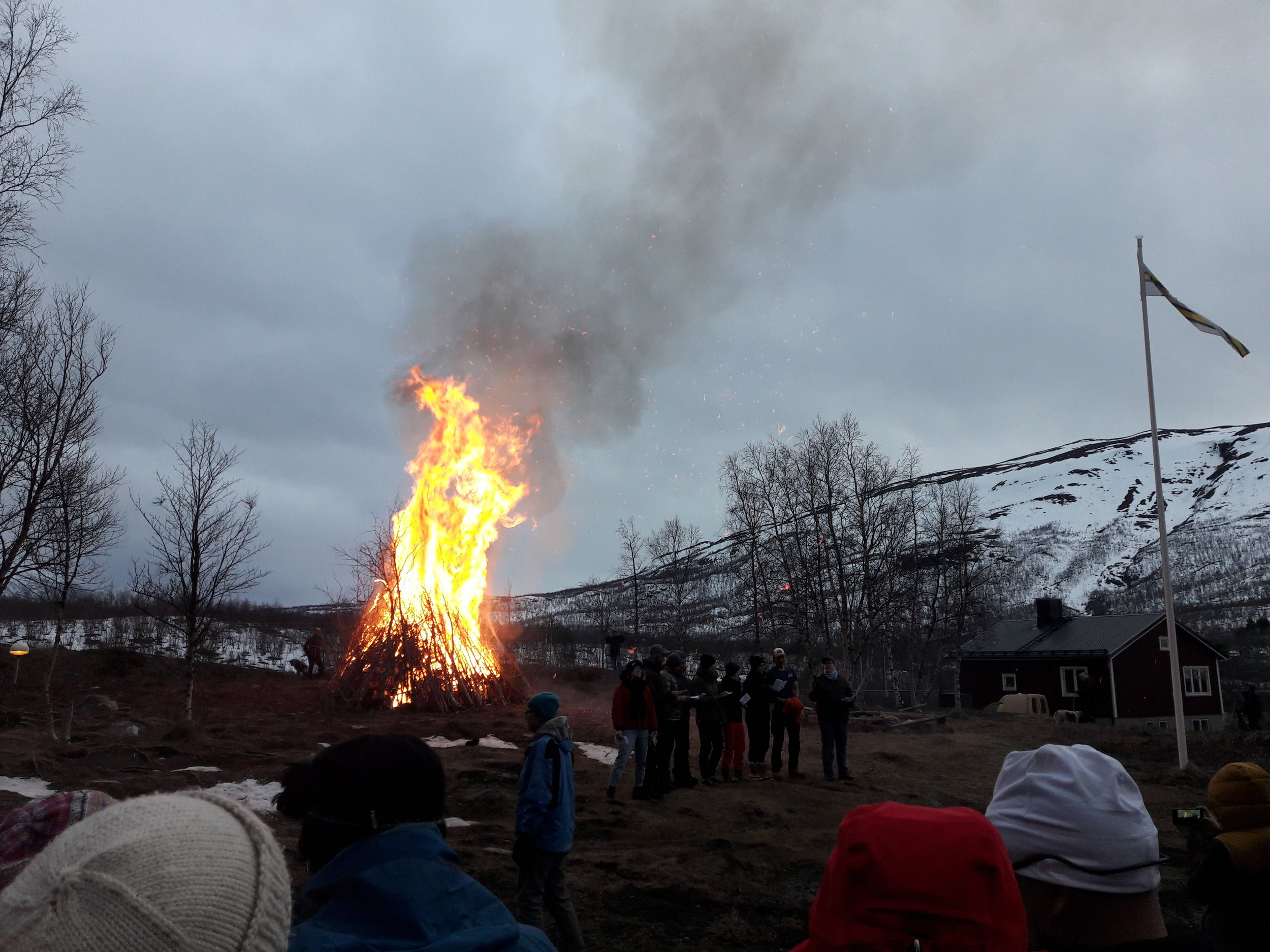 Bonfire with other students to welcome Spring in Abisko, Photo by Lara