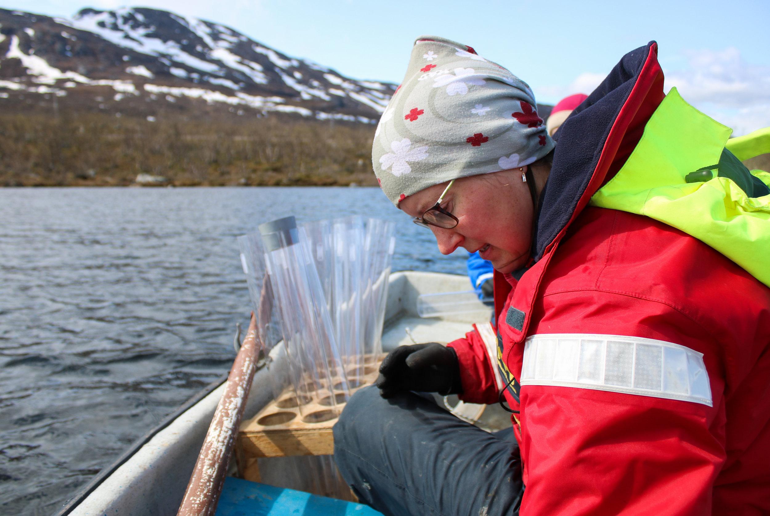 Jenny Ask Sediment Sampling Lake Almberga 03June19 Photo by Emma.jpg