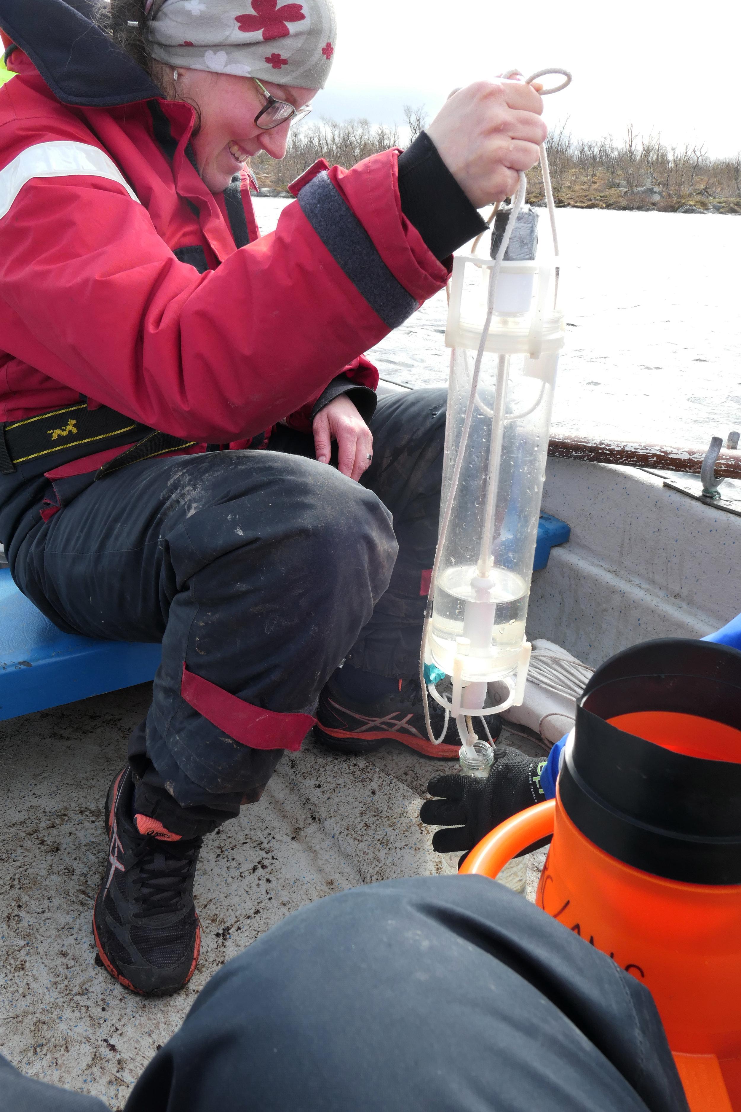 Jenny Ask Watersampling Lake Almberga 03June19 Photo by Joelle.jpg