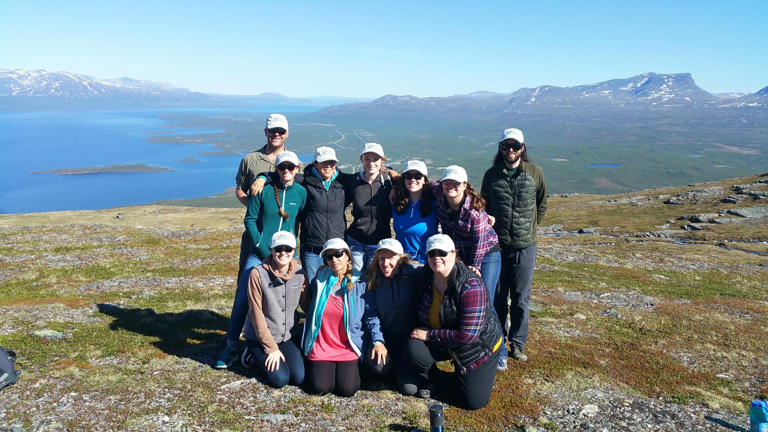 LOREX Students on Nuolja, Photo by Joëlle