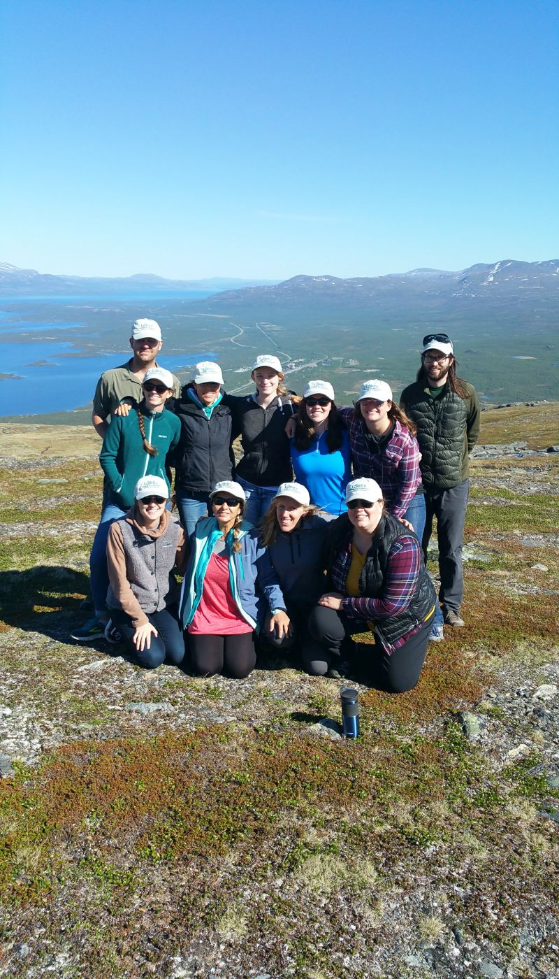 Lorex participants with organiser David Seekell and Adina Paytan on Mountain Nuolja, Photo by Joëlle