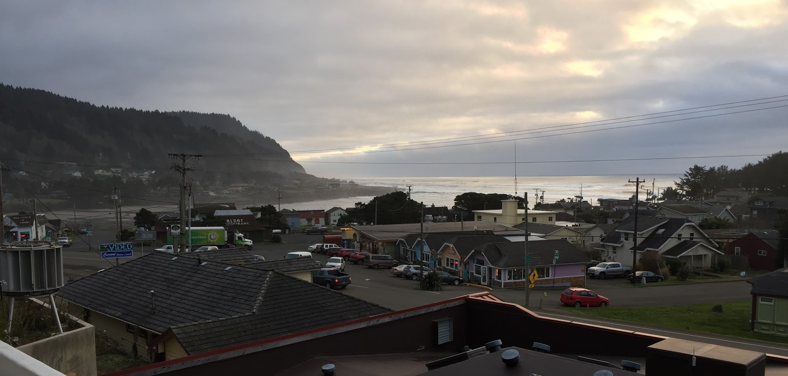 The view from the roof of Yachats--which may  one day be used for additional seating.