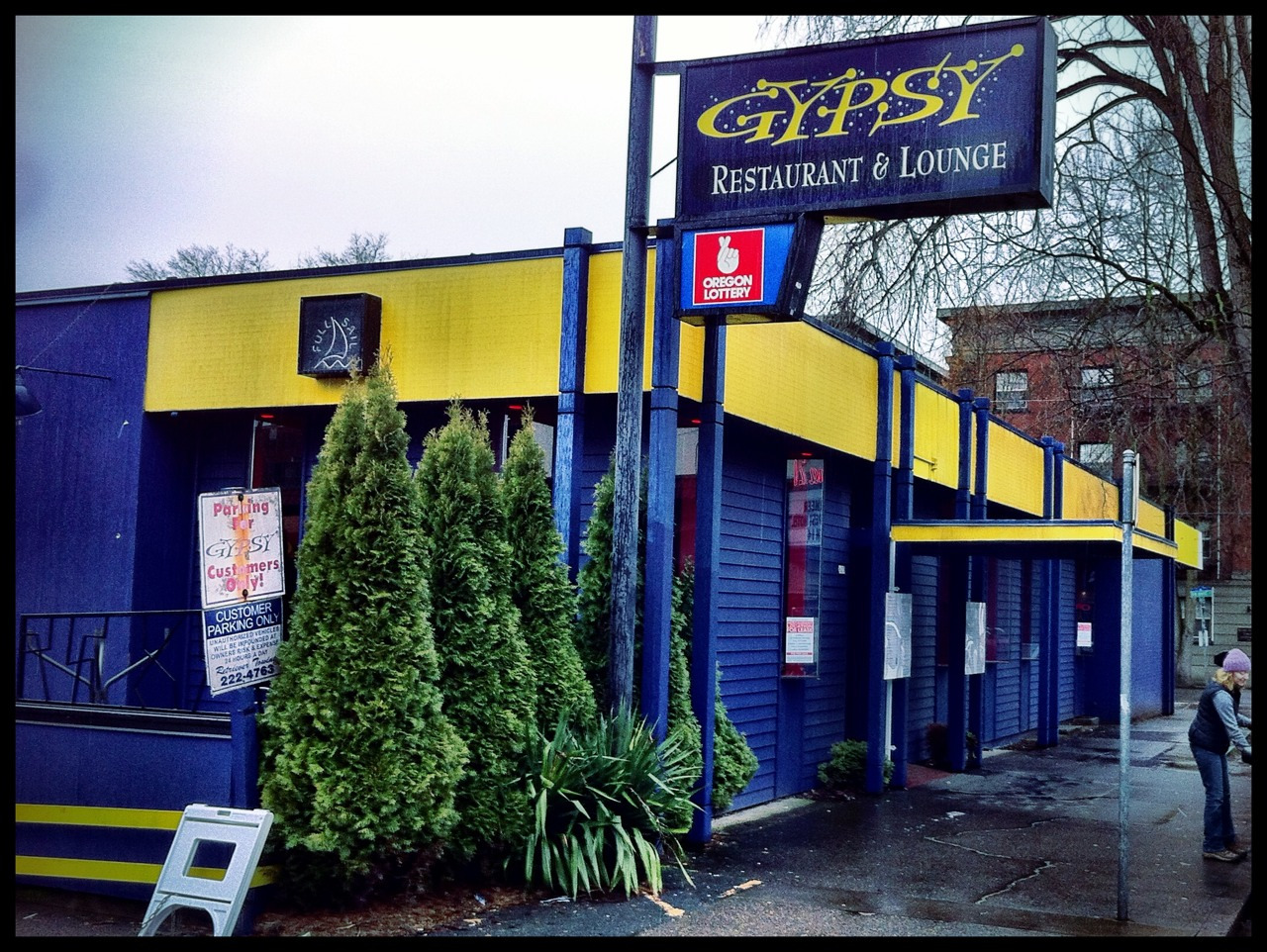 The iconic Gypsy, across from Cinema 21, was where I had my first pint of BridgePort IPA in 1996. Underneath it was some of the most valuable land in Portland; predictably, it's been turned into   mixed use   for the upper-middle class.