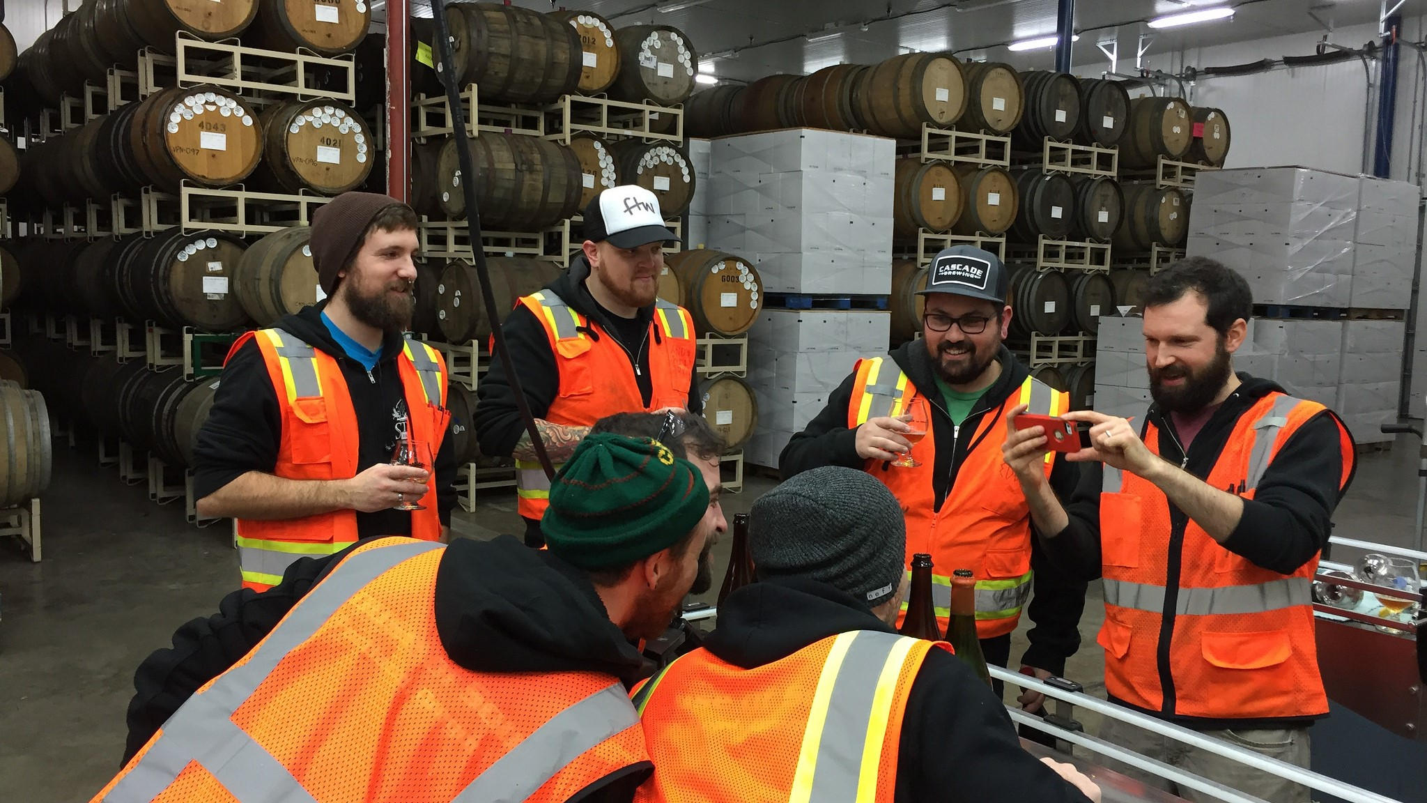 When Ron Gansberg dips into the cellar at Cascade Brewing, sometimes the rarities require documentation.