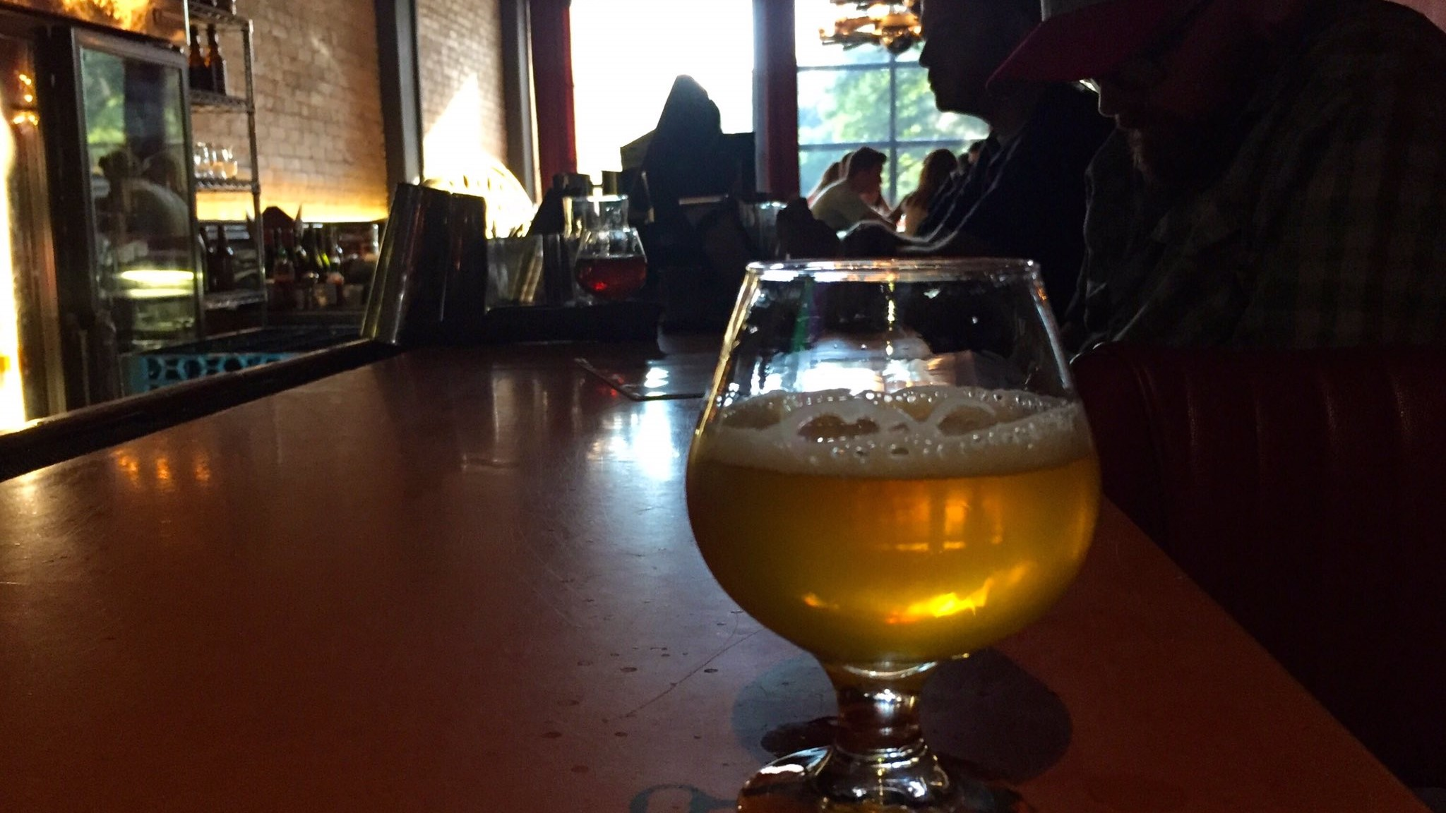 A snifter of Kout Na Sumave (which is the wrong glass choice, but nevermind) at the legendary ChurchKey in DC.