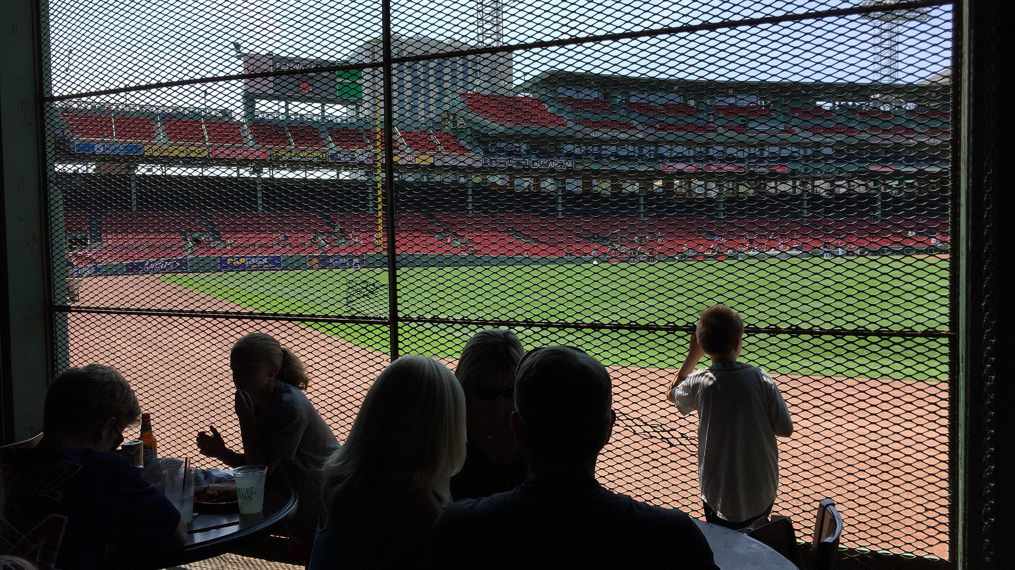 Another great drinking experience. I sipped a Harpoon IPA from this pub  inside  Fenway Park. That kid is looking out longingly at the field where the Red Sox would soon pummel the White Sox.