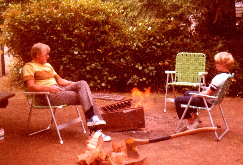 With my father in the mid-1970s.