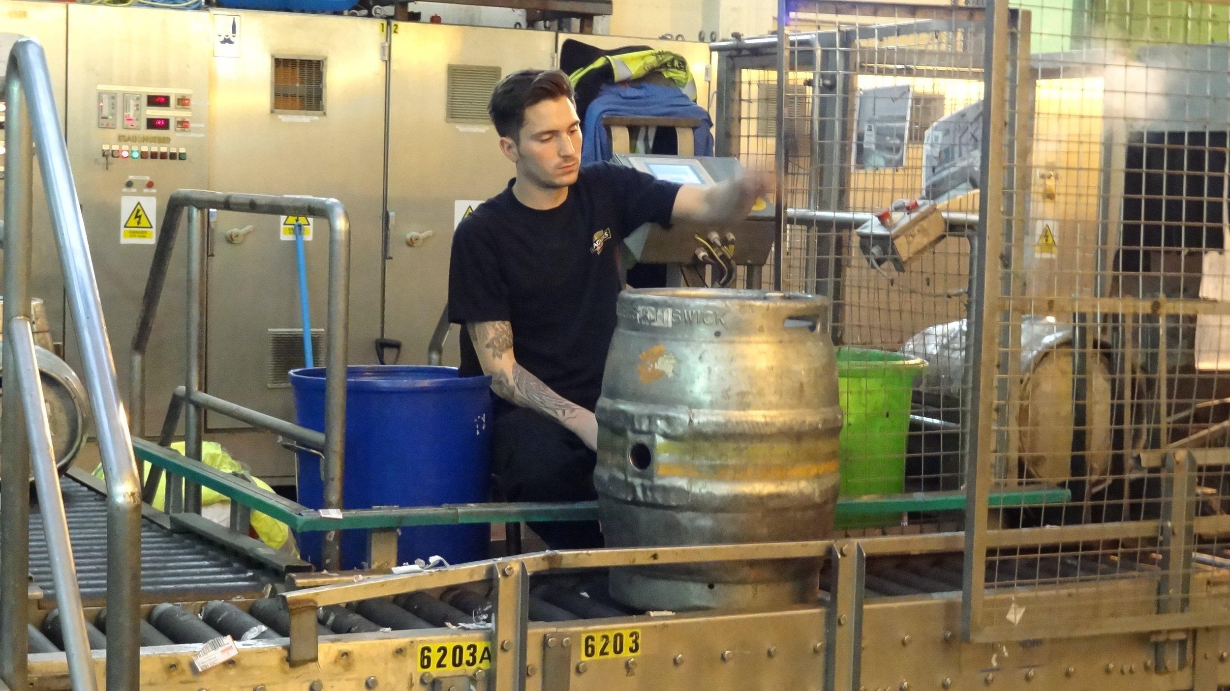 Filling casks at Fuller's