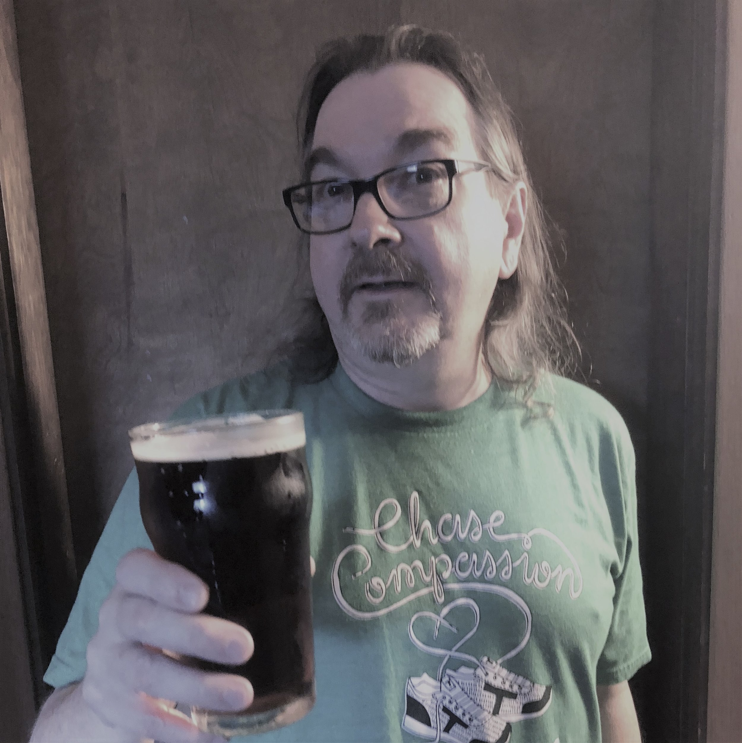 Bill with a pint of his mild.