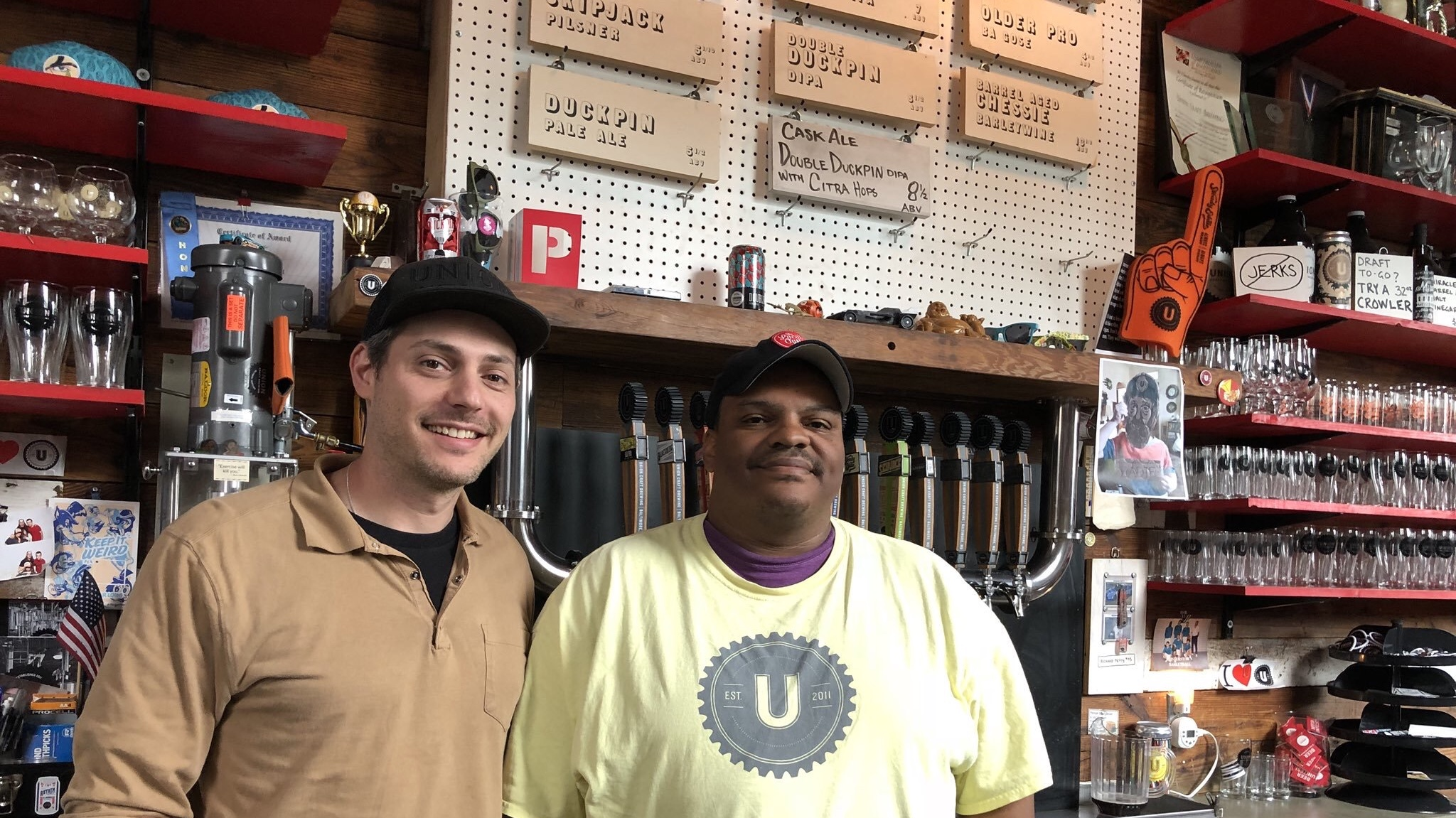 My visit to Baltimore took me to Union Craft Brewery, where I met owner Jon Zerivitz (left) and brewer Kevin Blodger.