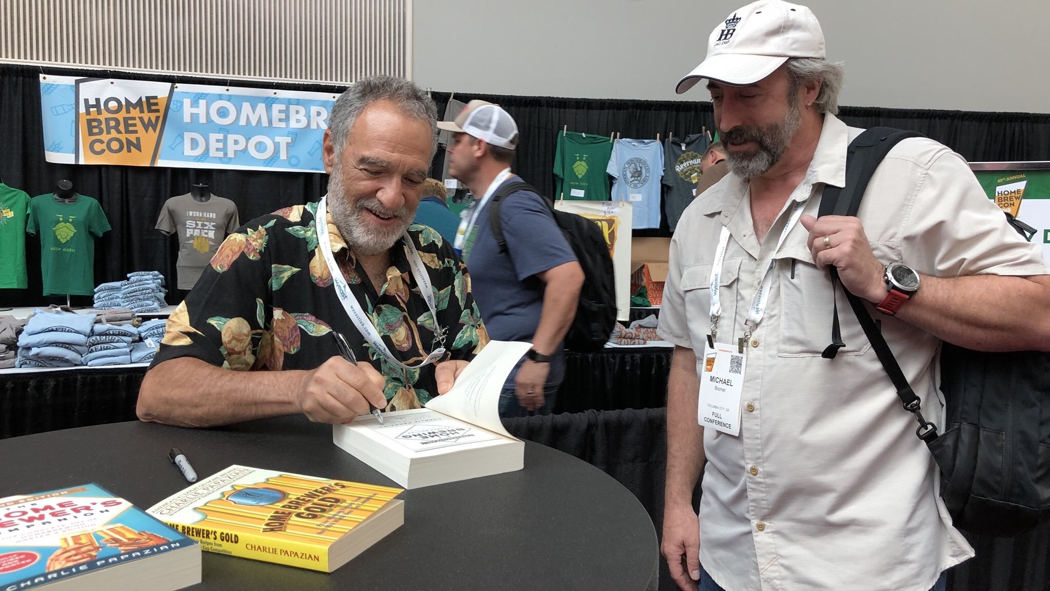 Homebrew Con came to Portland for its 40th year and I managed to catch the biggest celebrity (Charlie Papazian) signing books.