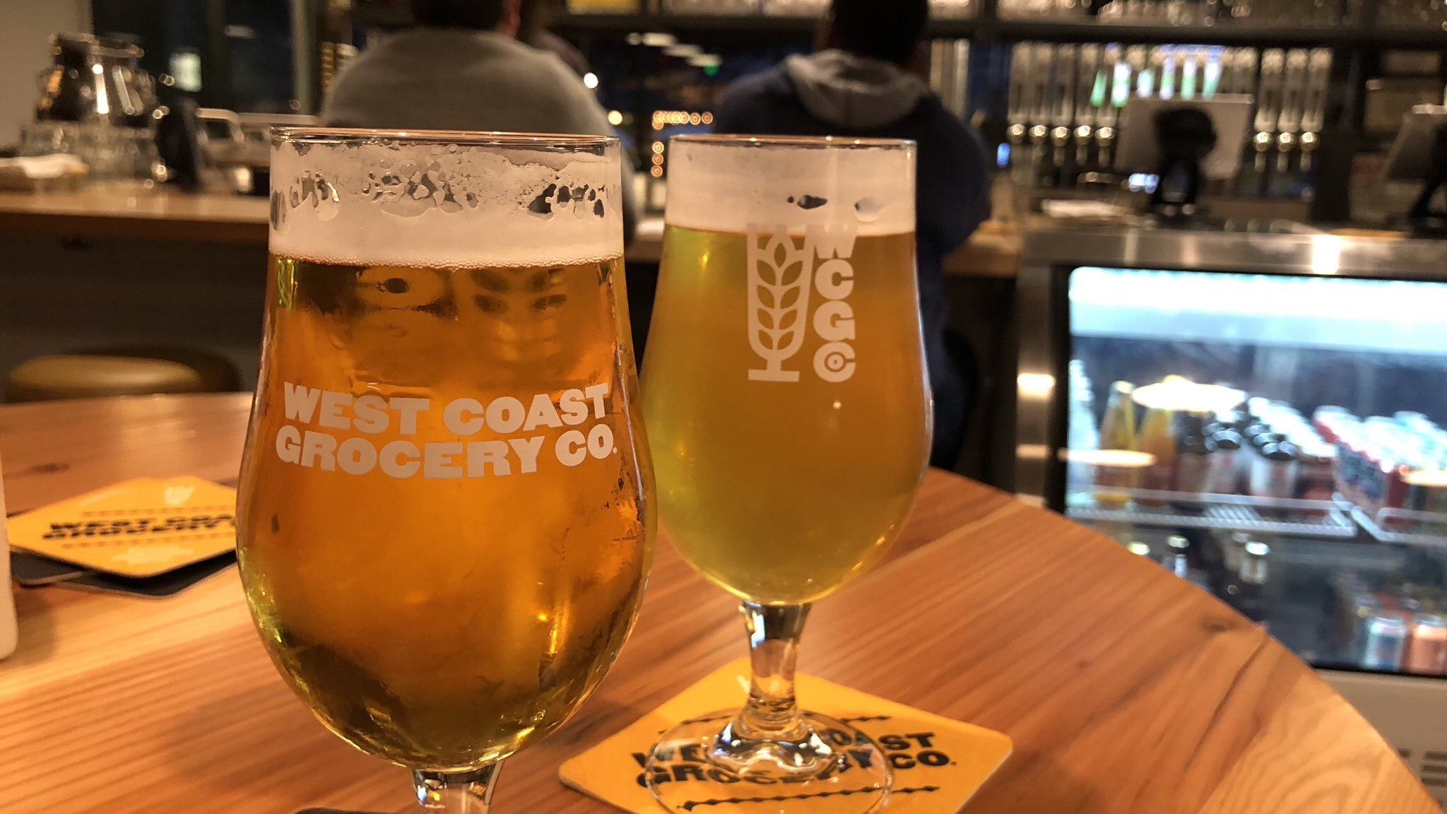 West Coast Grocery opened in late summer and had one of the best beers of the year, a pilsner—that's it there on the left. (Their Oregon Beer Award-winning fresh-hopped saison is on the right.)