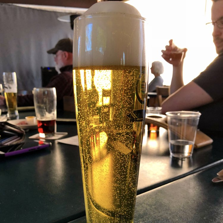 The original glitter beer—a pilsner. This beauty was served to me at Chuckanut in Bellingham as the illustrious John Holl spoke about his new (and then-unreleased) book  Think Beer, Drink Beer .