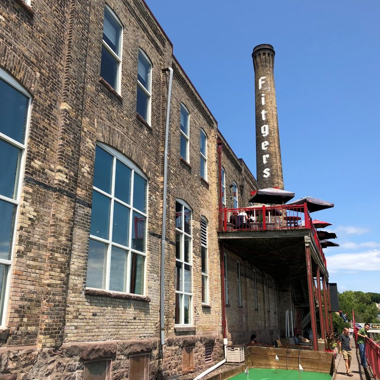 The new-era Fitger's in the 19th-century Fitger's brewery building in Duluth.