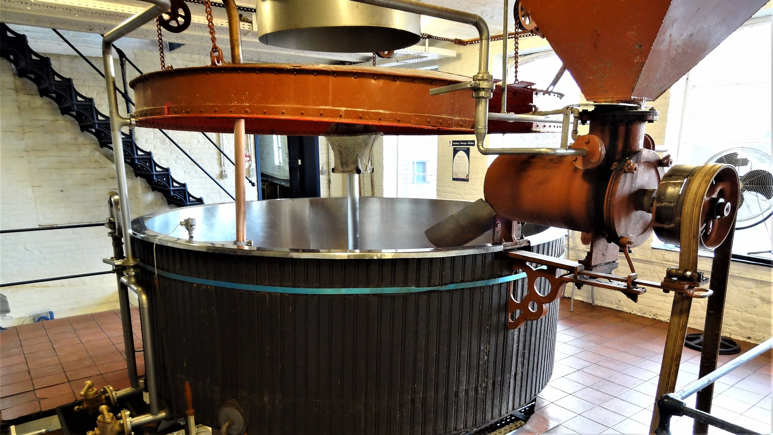 The old mash tun at St. Feuillien.