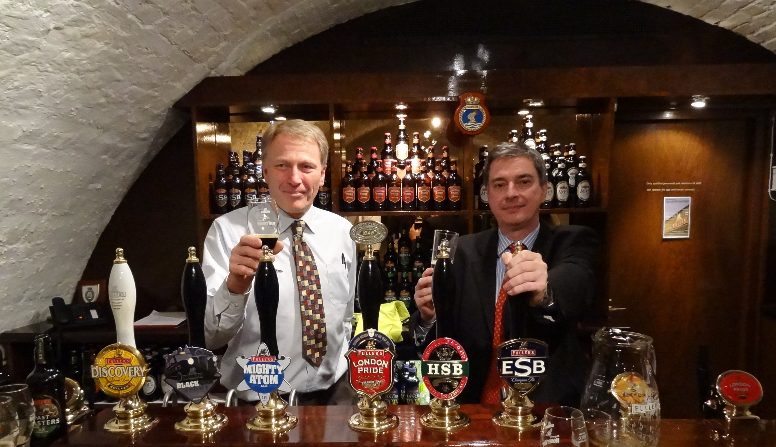 Then head brewer John Keeling (right) with former Young's head brewer (and then-Fuller's brewer) Derek Prentice in 2011.