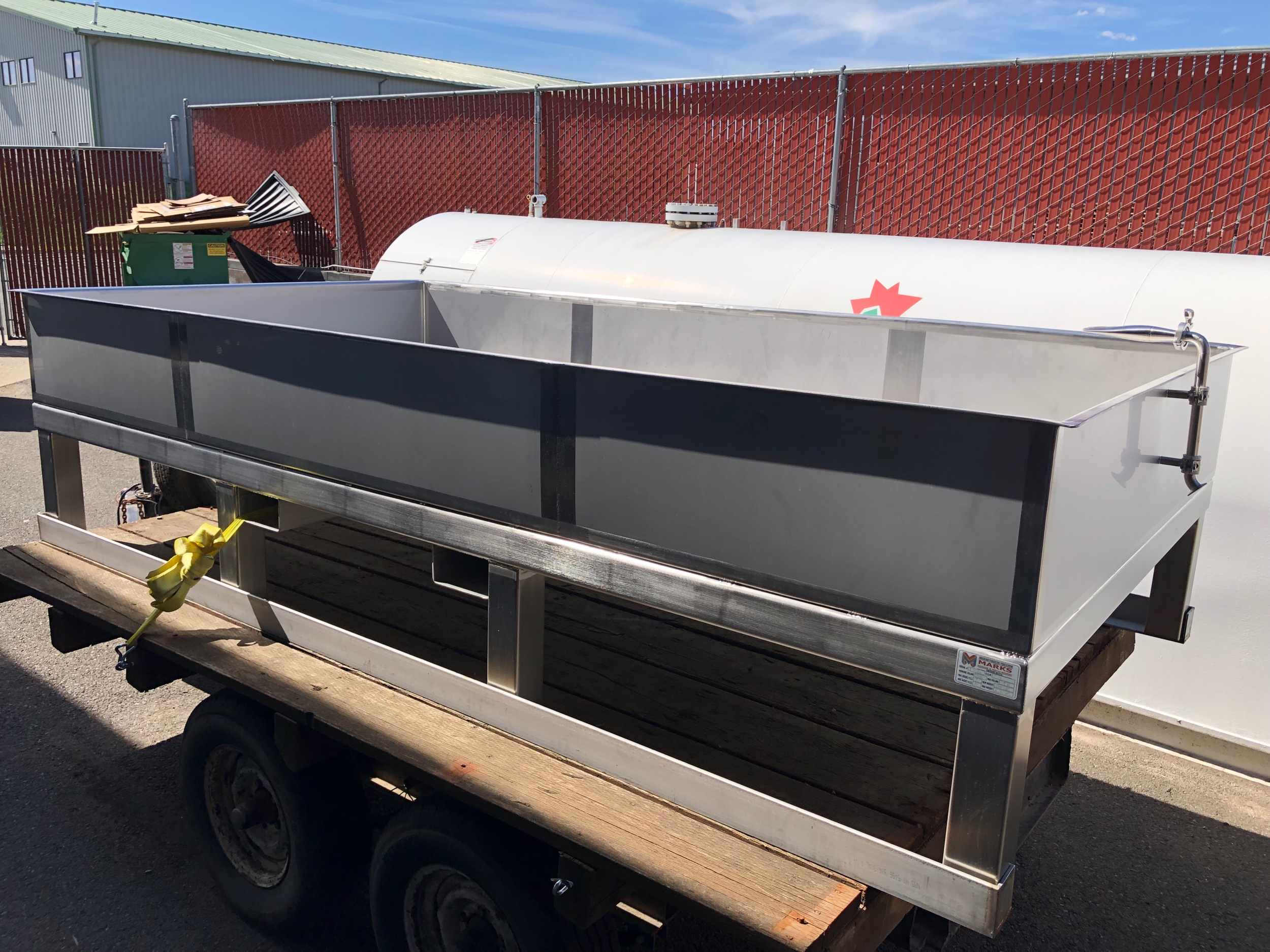 Crux's mobile coolship, which will be positioned around the NW to gather wild yeasts. The first coolship beer is just about to come out—a 3.7% grisette.