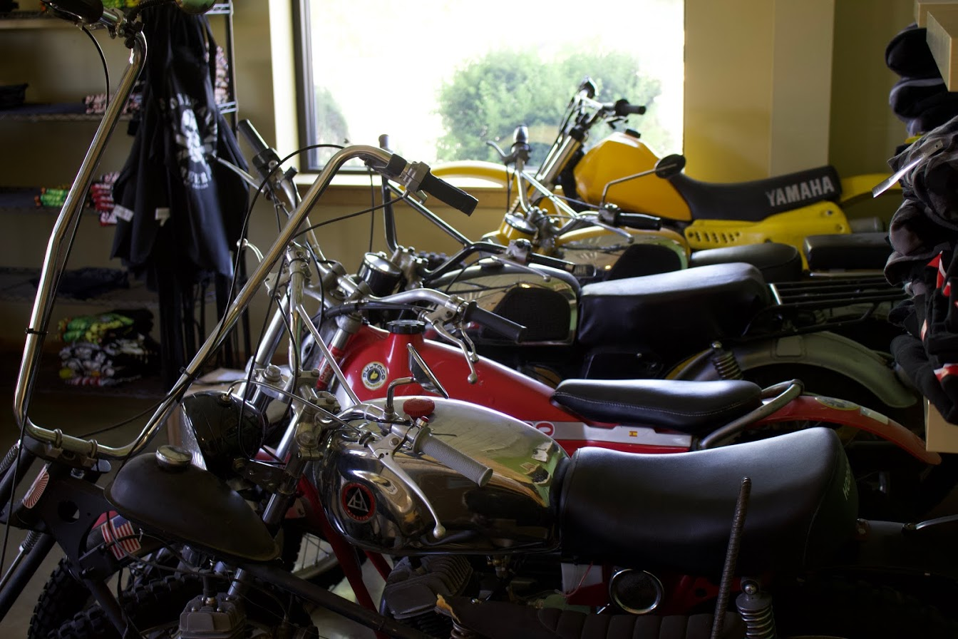 A few of the many motorcycles scattered around Boneyard.