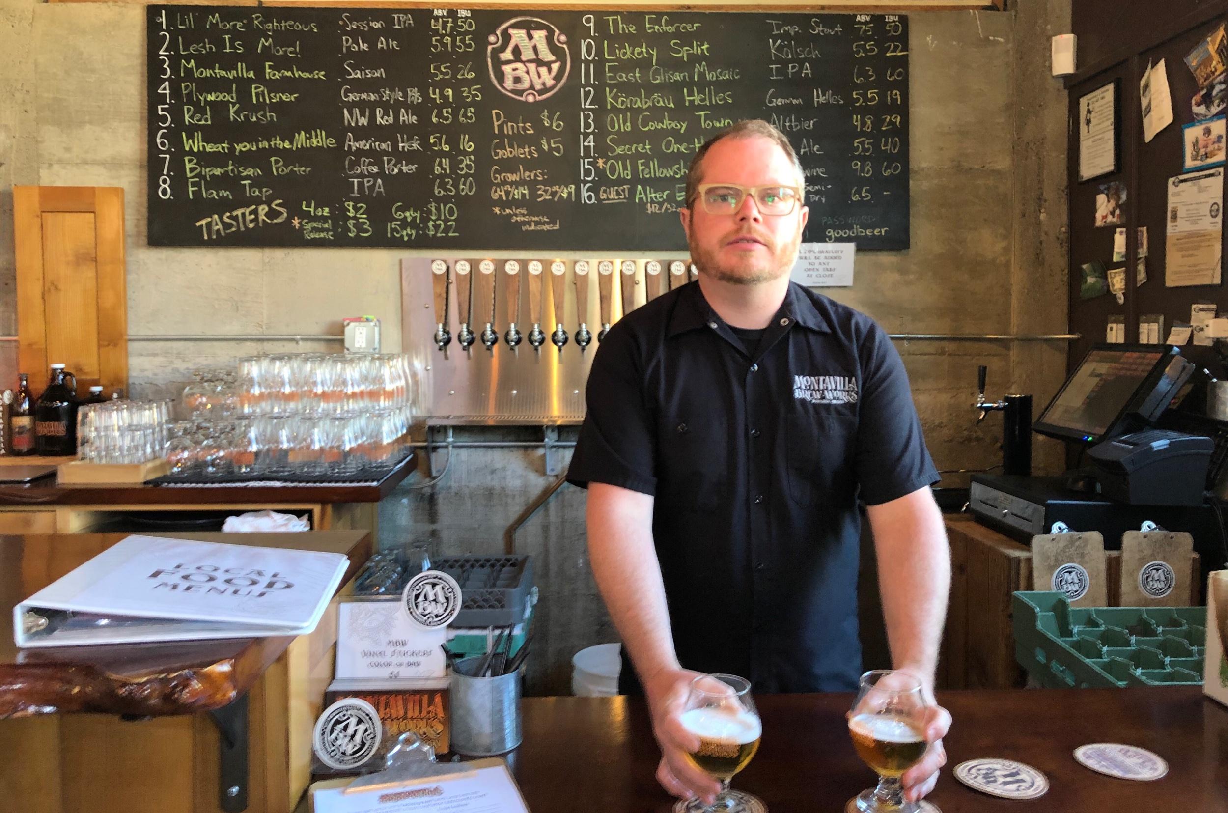 Alex Graham, assistant brewer and multitasker.