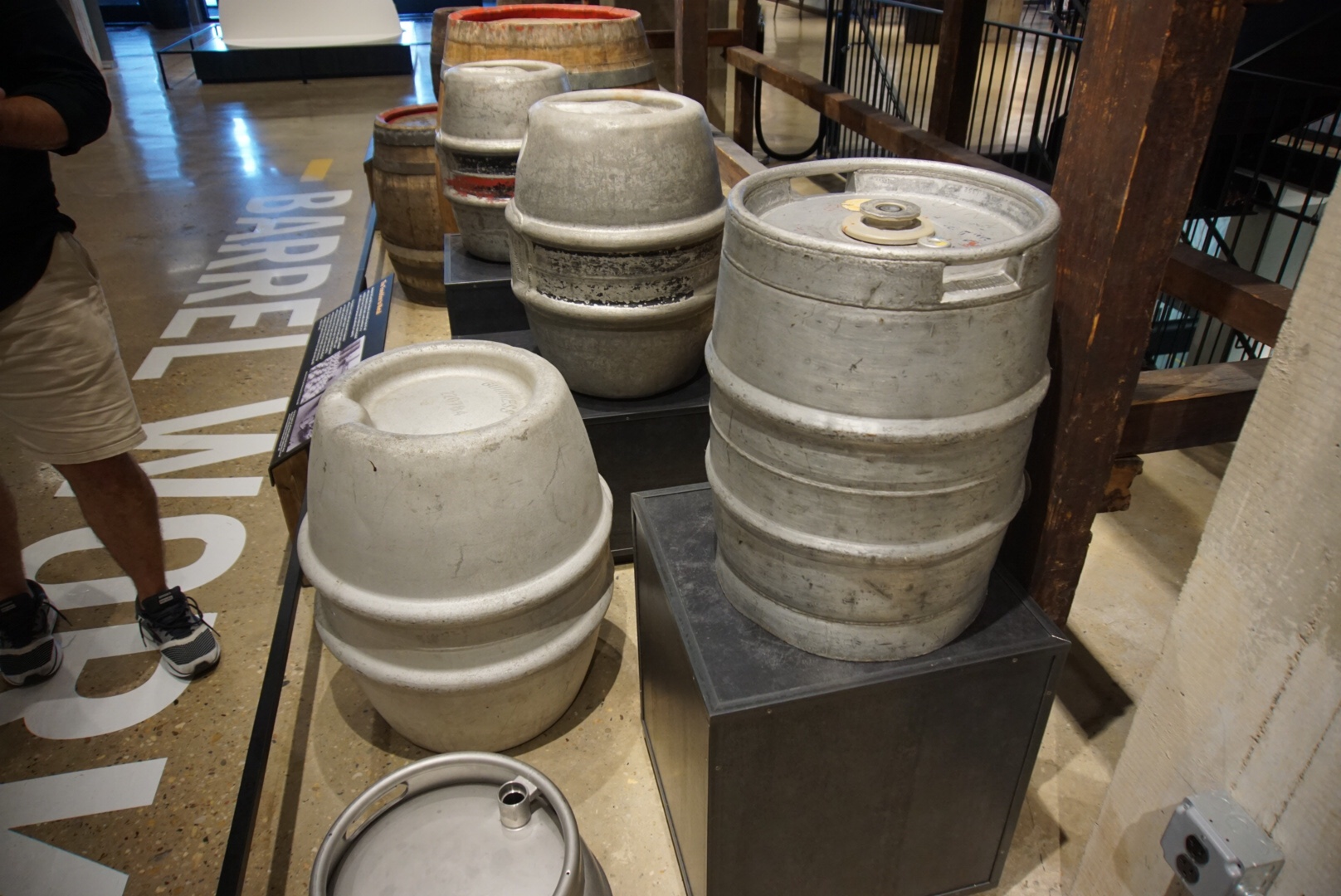 """In the front right is one of Michael Ash's first nitro kegs—an """"Ash can."""""""