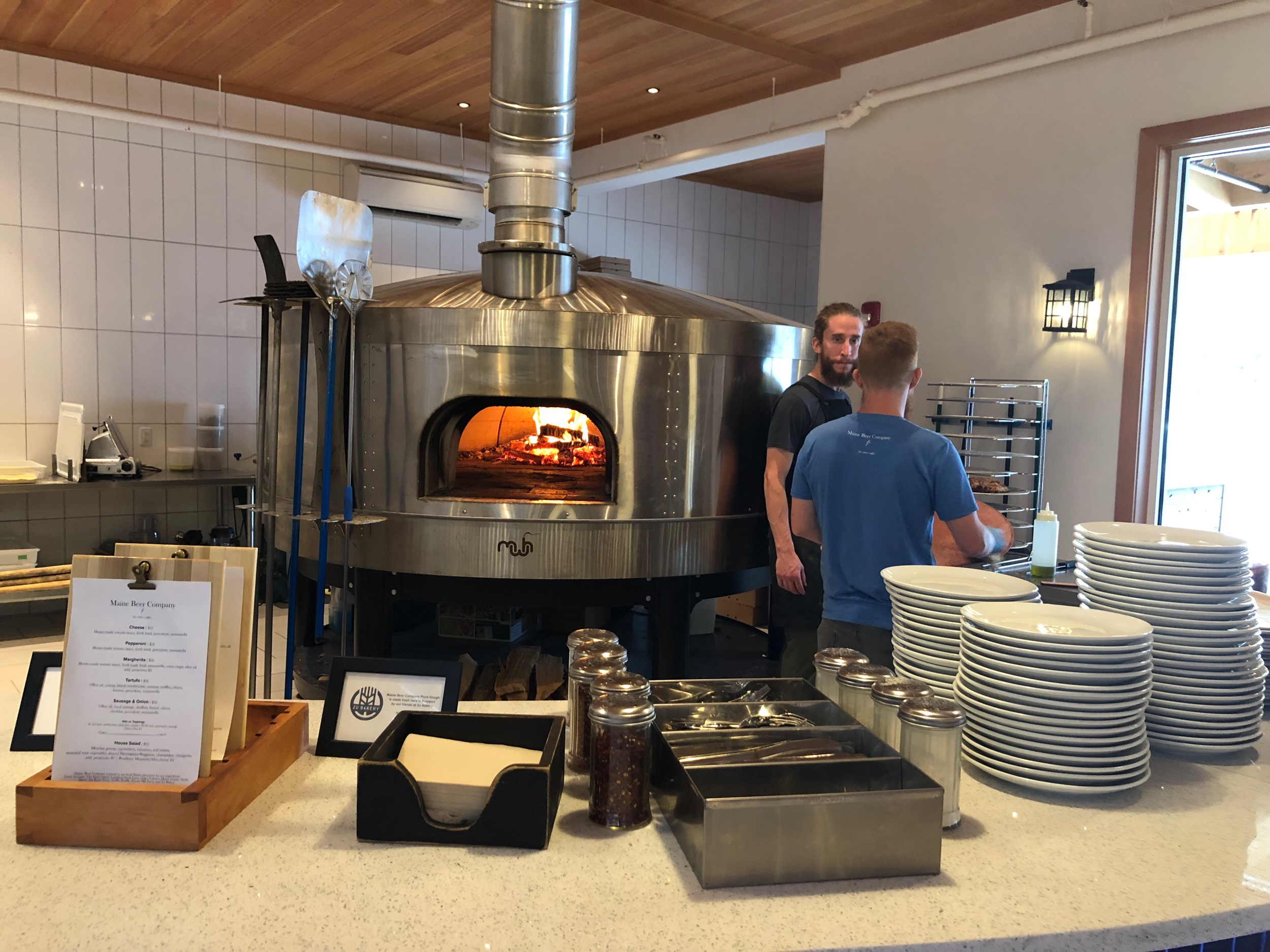 Just a tasting room no more. Now you can get pizza and other comestibles.