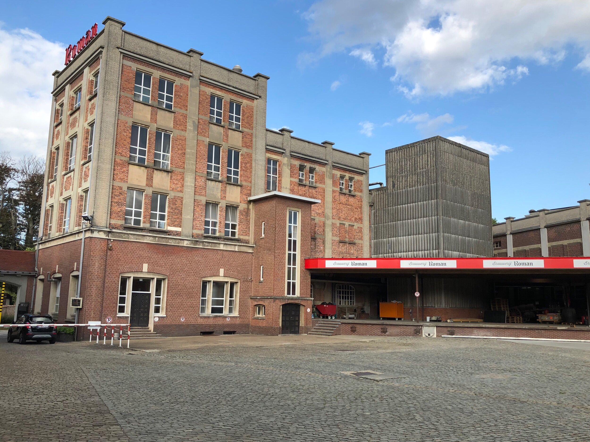 The brewery was built around a giant courtyard where, when it opened around 1930, horse wagons would have come in for delivery.