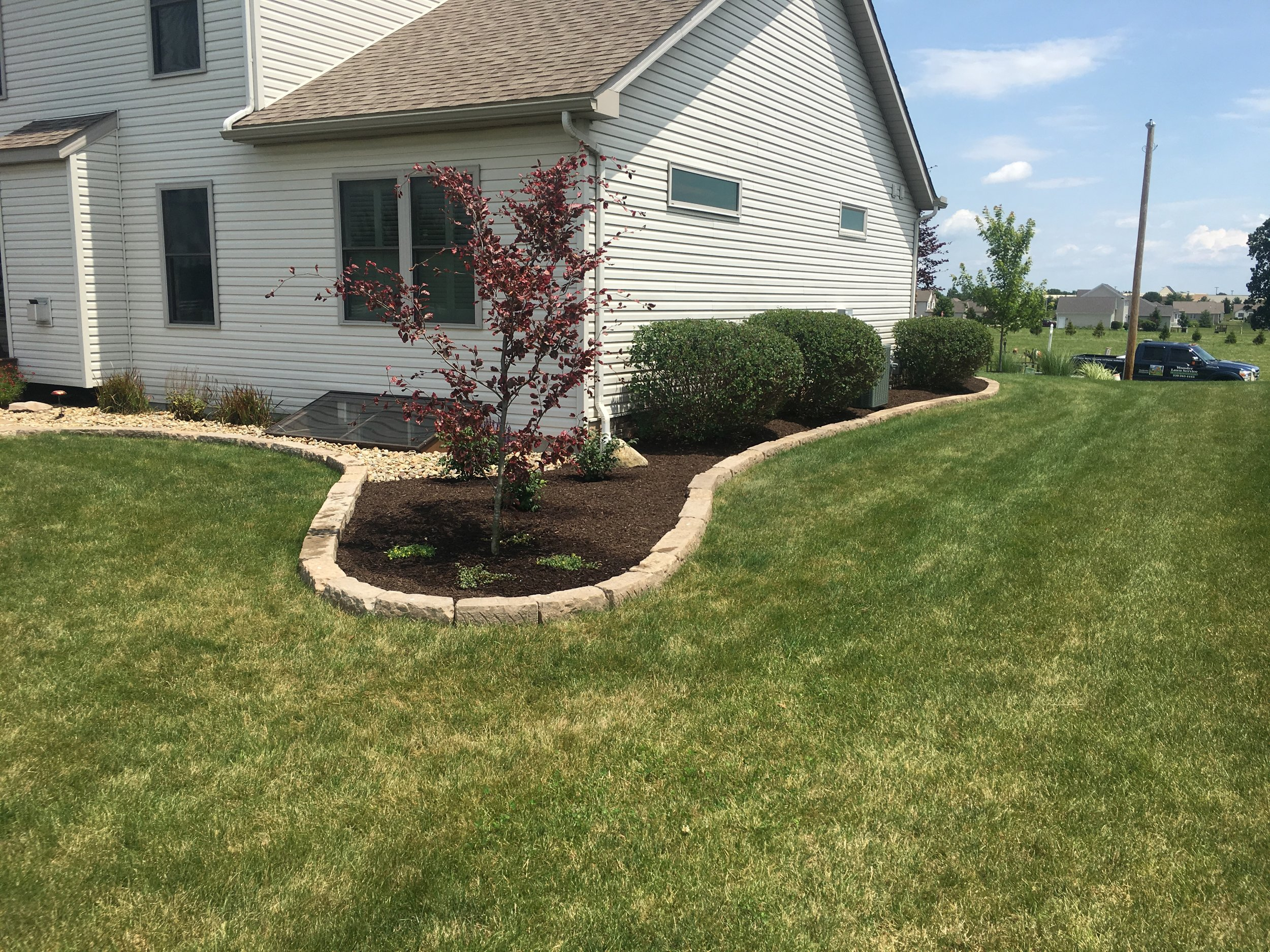 Landscaping in Wooster Ohio.