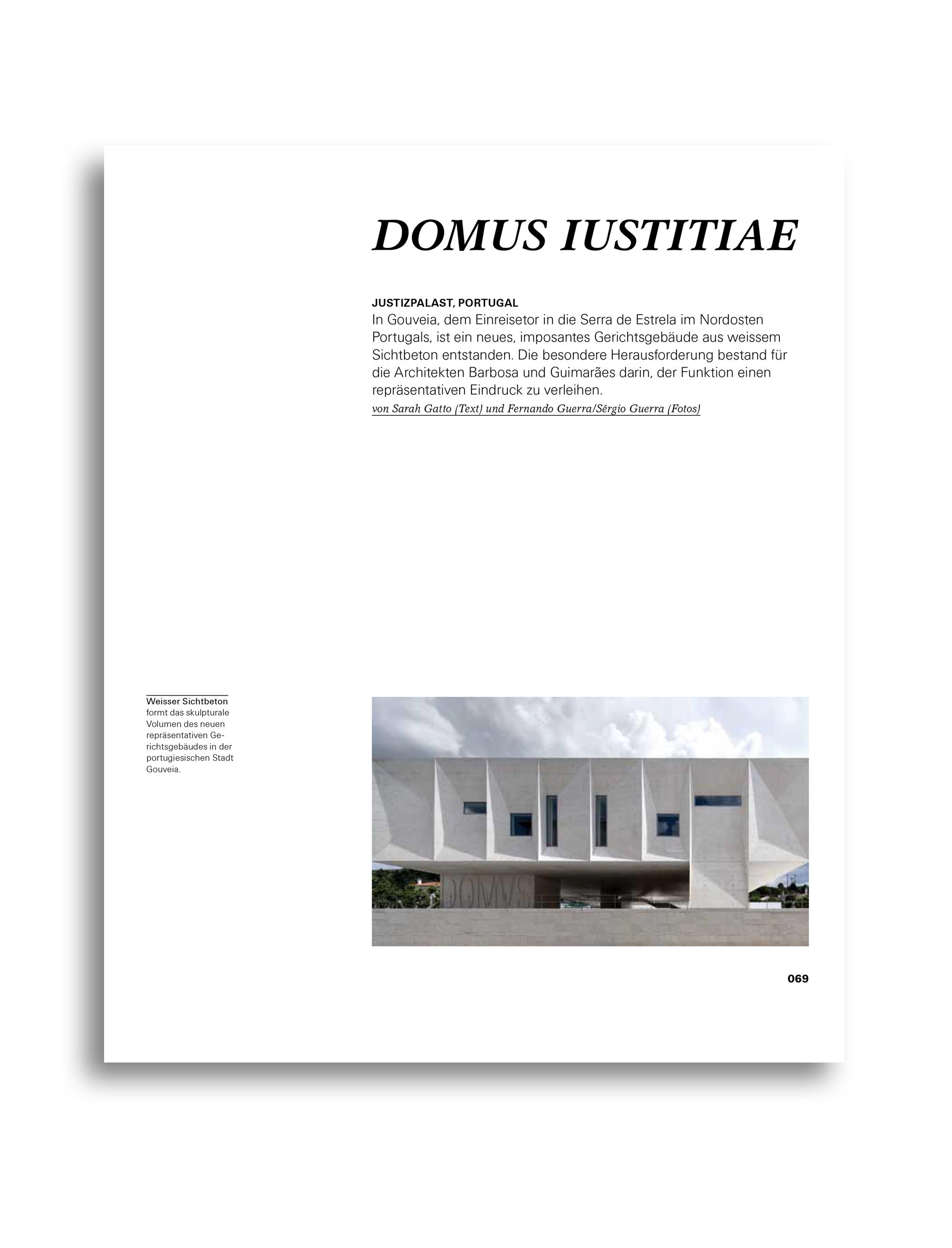 MODULOR 0711 I Domus Iustitiae