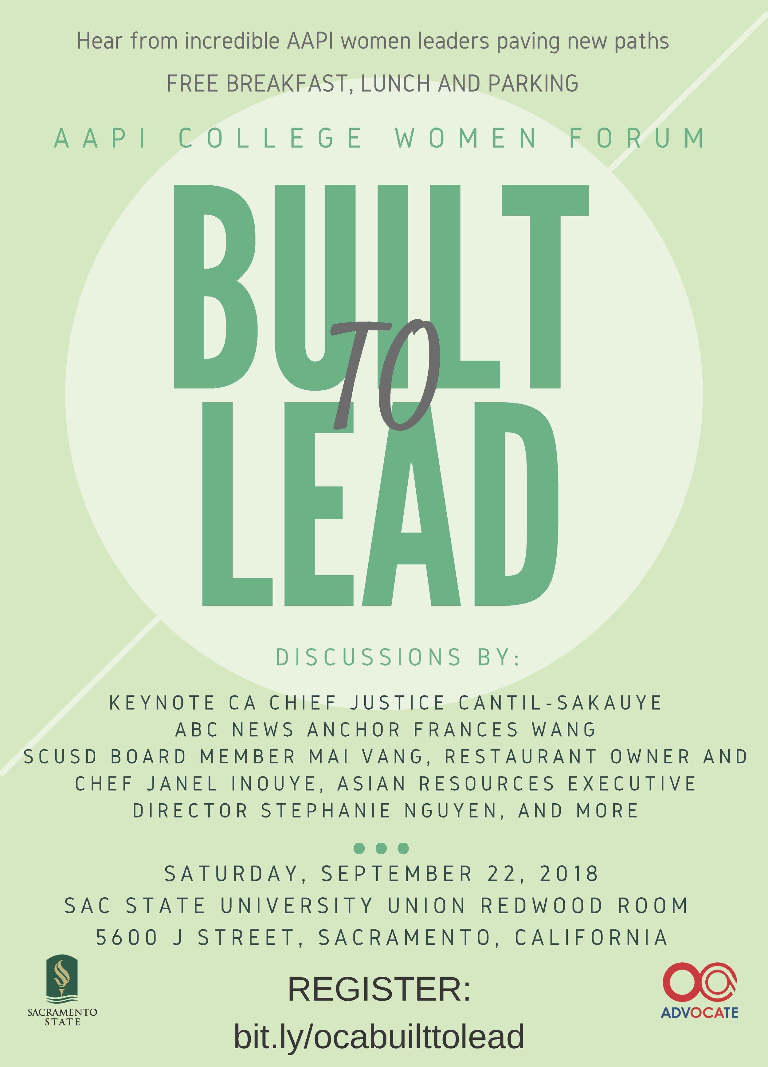Built to Lead — OCA National Center