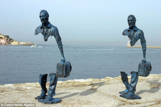 Ten of the life-size sculptures were presented at the port of Marseille so as to celebrate its position as the 2013 European Capital of Culture.