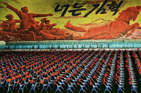 Photograph by Sam Gellman from the Mass Games in North Korea