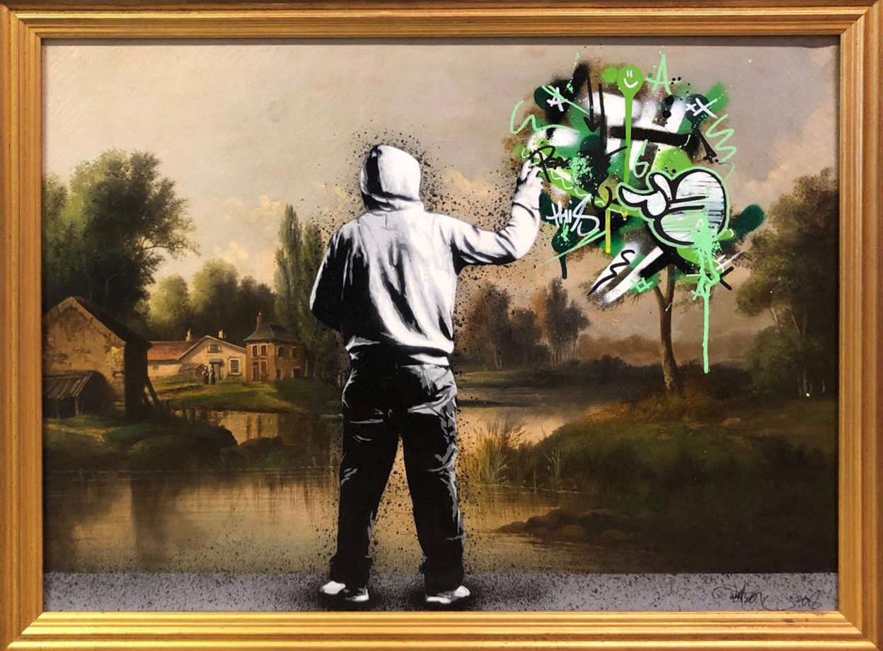 MARTIN WHATSON | Tagging by the countryside (Sold)
