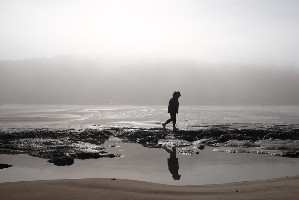Headed out to the beach during low tide hoping to find some clams. No luck with clams but scored on some awesome photo opportunities. The fog, mist and sunrise made for some beautiful photos. I often found myself starring out into the fog feeling as if I was on another planet.