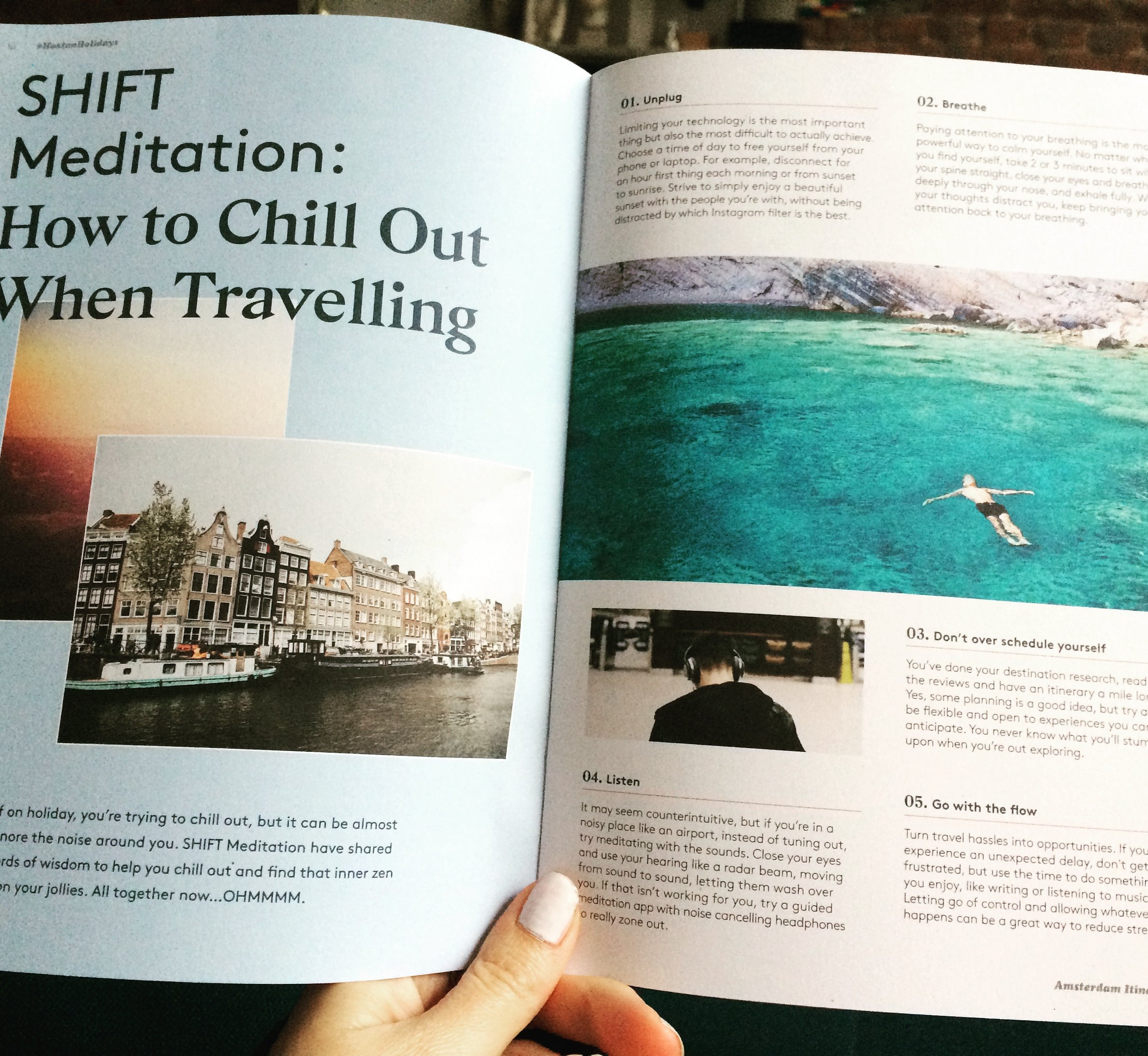 2 page feature in the international Hoxton Holidays Magazine -
